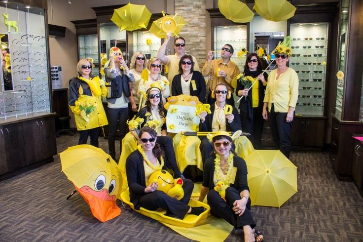 """This was our 2014 """"Paint The Town Yellow"""" Fundraiser for the Canadian Cancer Society."""