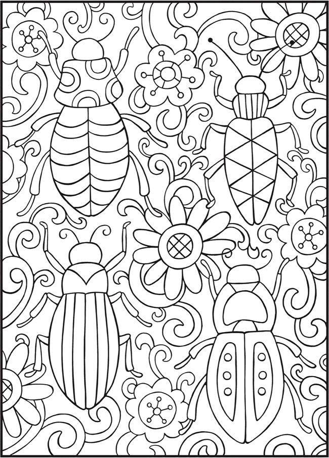 Welcome To Dover Publications Spark Bugs Cute Coloring Pages Bug Coloring Pages Coloring Books