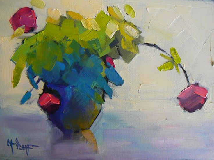 "Still Life Artists International: Floral Still Life Painting, Daily Painting, ""A Rose is a Rose"" by Carol Schiff, 9x12x1.5"""