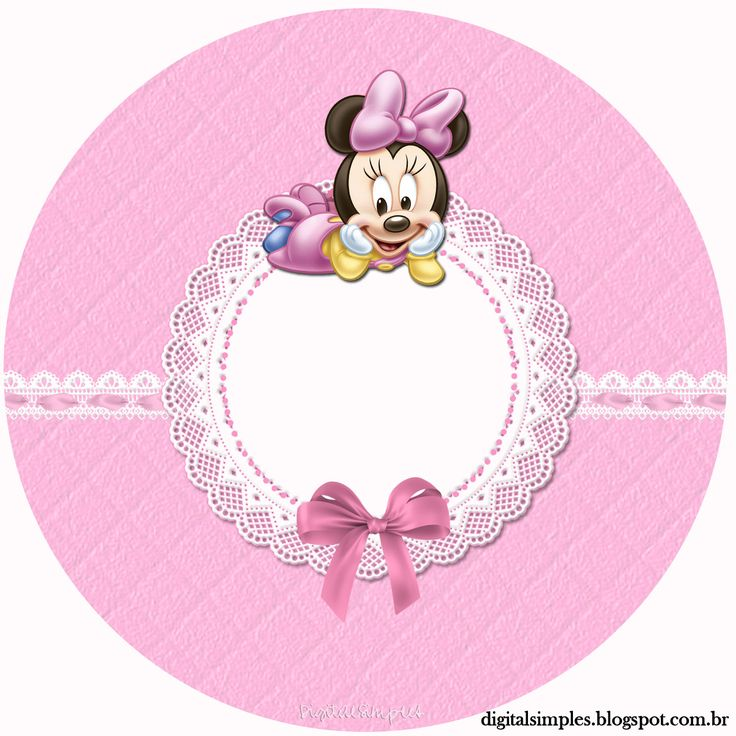 "Custom Kit ""Minnie Mouse Baby"" for Printing - Digital Invitations Simple"