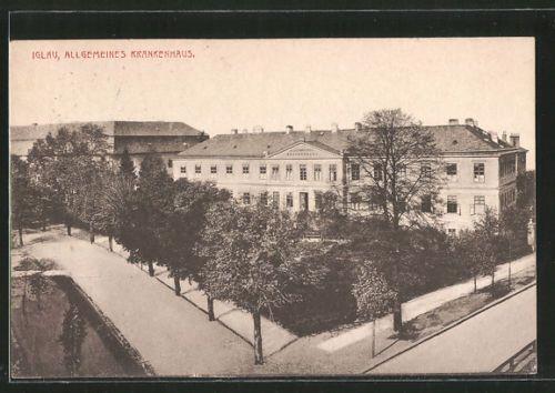 Jihlava Hospital (Iglau Krankenhaus) 1939   Image Source: http://www.ebay.at/itm/tolle-AK-Iglau-Allgemeines-Krankenhaus-1939-/311821851627?hash=item489a07dbeb:g:KiAAAOSwuxFYxSzr    More info at: https://www.nemji.cz/historie-nemocnice/d-1056/p1=1223