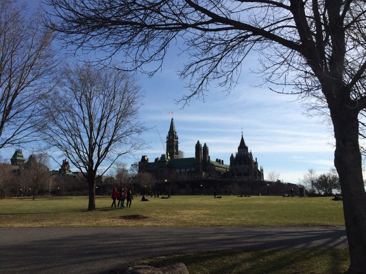 Parliament buildings on a beautiful spring day....