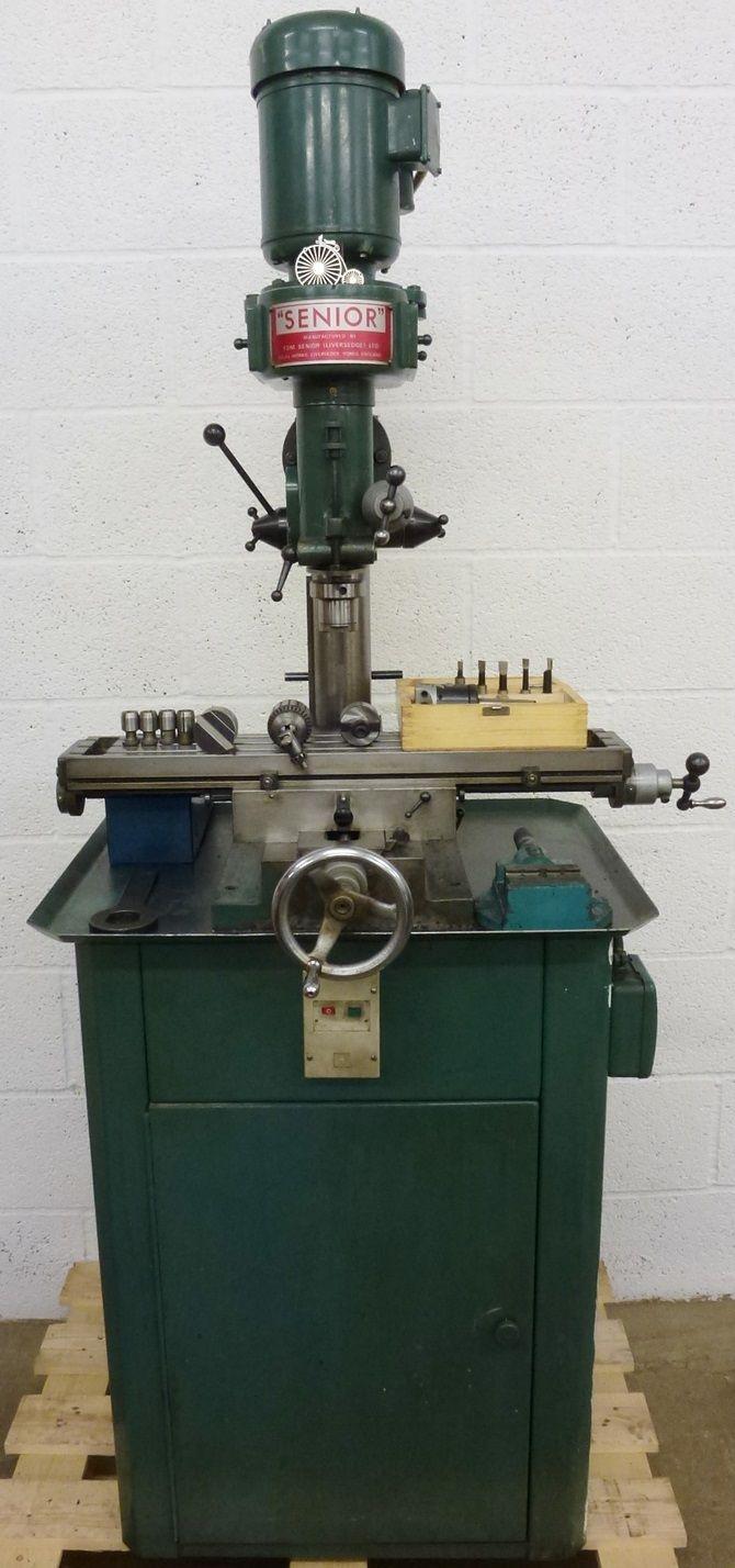 "Tom Senior Type ""E"" Vertical Milling Machine."
