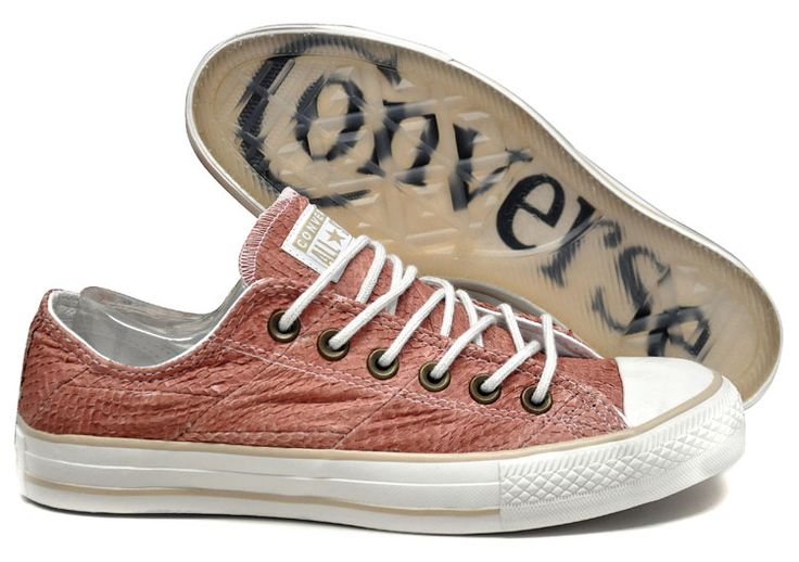 sneakers made of fish leather salmon design by