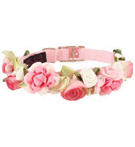 Fancy Pet Collars Flowers CUTE (Colors: Pink, Lavender, Purple, Black, Red)--  now that's fancy!