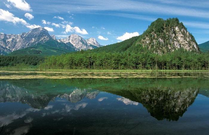 austria landscape | austria landscape: Almsee Fruehling