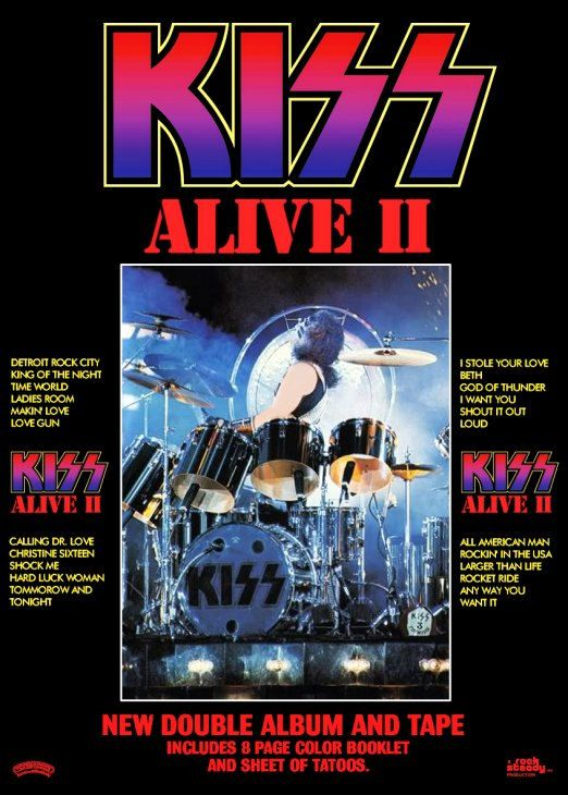 KISS Peter Criss ALIVE II Album Promo Stand-Up Display