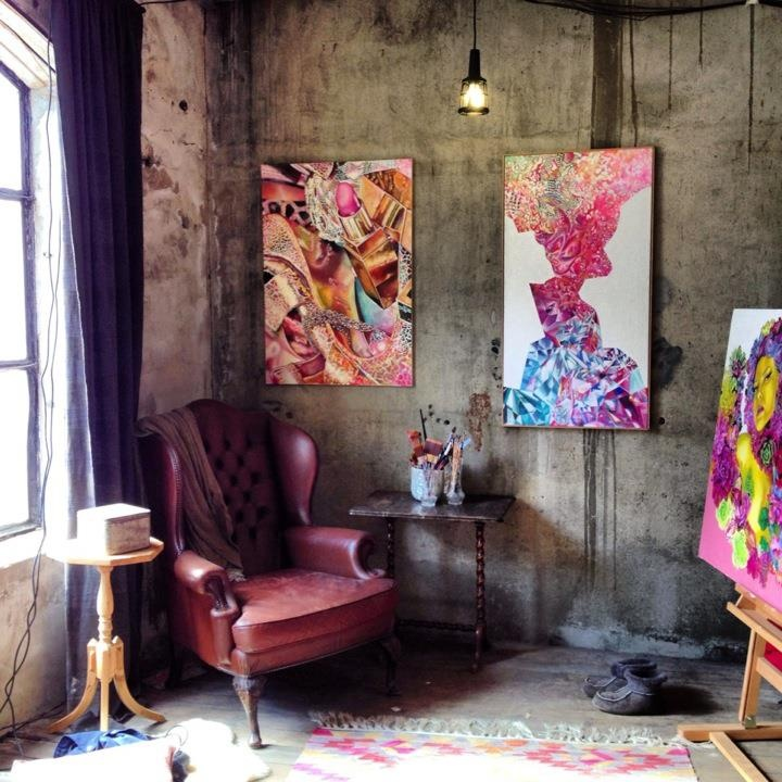Work Space, art painting studio Lene Karlsvik