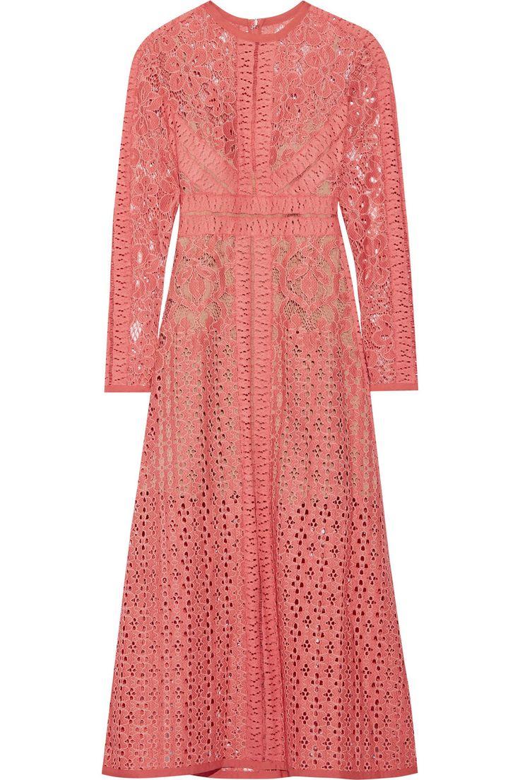 Elie Saab | Cotton-blend lace dress | NET-A-PORTER.COM