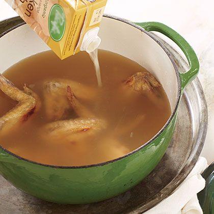 Easy Chicken Stock Recipe   MyRecipes