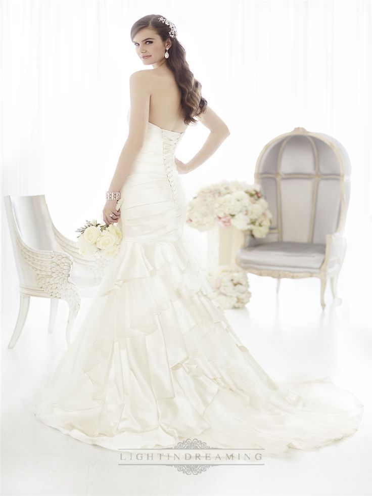 Fit and Flare Sweetheart Ruched Bodice Wedding Dresses