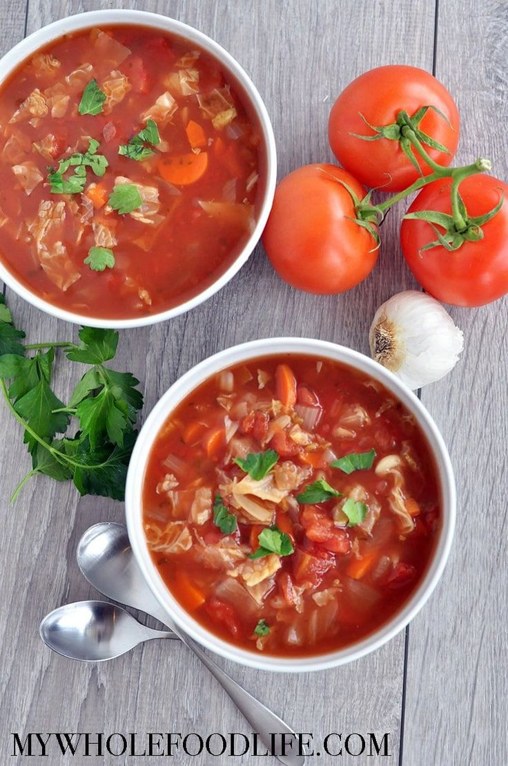 Slow Cooker Cabbage Soup - My Whole Food Life