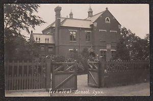 1905-LYNN-TECHNICAL-SCHOOL-KINGS-LYNN-NORFOLK-REAL-PHOTO-POSTCARD