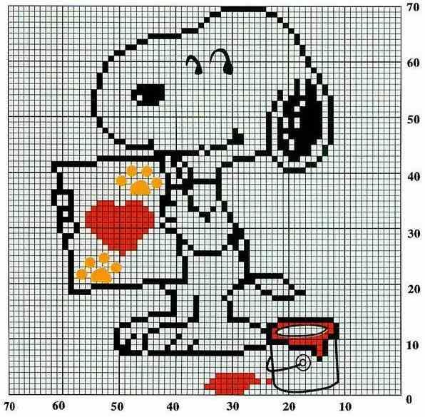 Ponto Cruz da Drayzinha: Graficos - Snoopy