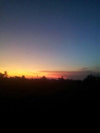Sunset at Mengwi Badung, Bali.