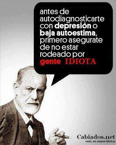 De acuerdo con Freud en que estamos rodeados de demasiado idiota