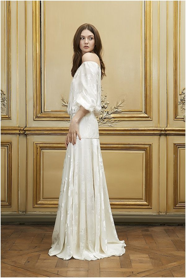 25 best chic vintage brides images on pinterest for Drop sleeve wedding dress