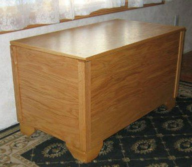Cedar blanket chest plans free woodworking projects plans for Blanket chest designs