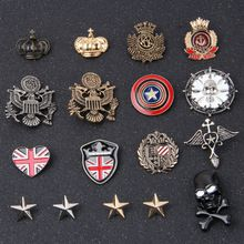 Vintage Army Style Lapel Stick Alloy Brooch Collar Pin Jewelry Suit Accessories Tuxedo Corsage Boutonniere Wedding Party Gift(China)