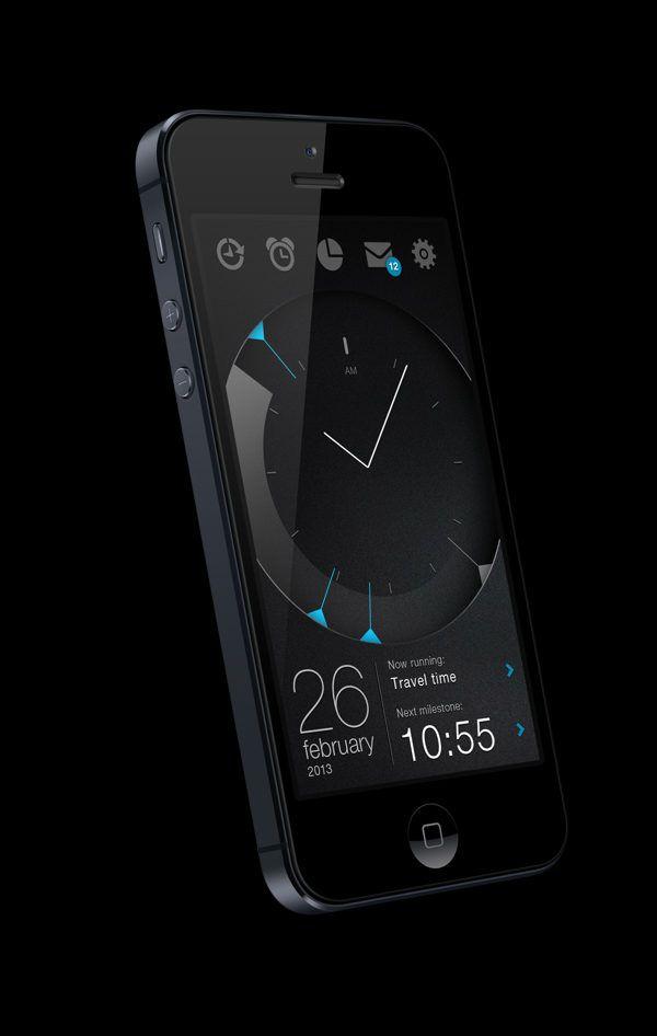 time managing #app #dark #black #UI# interface #design