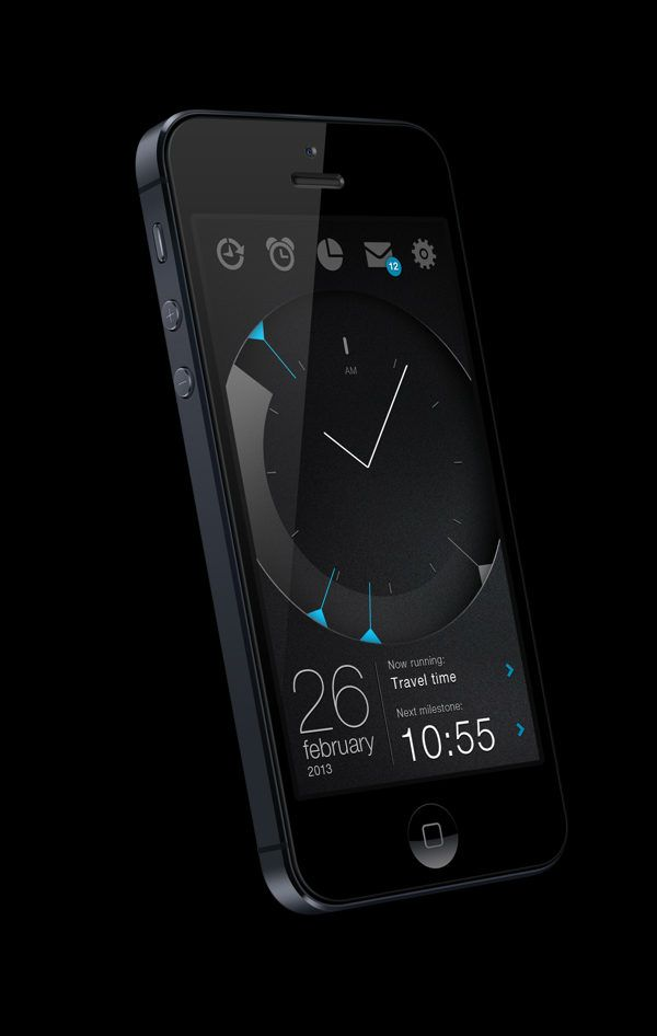 time managing #app #dark #black #UI# interface #design