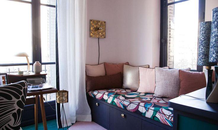 Un bureau confortable et riche chez Anne-Sophie Pailleret