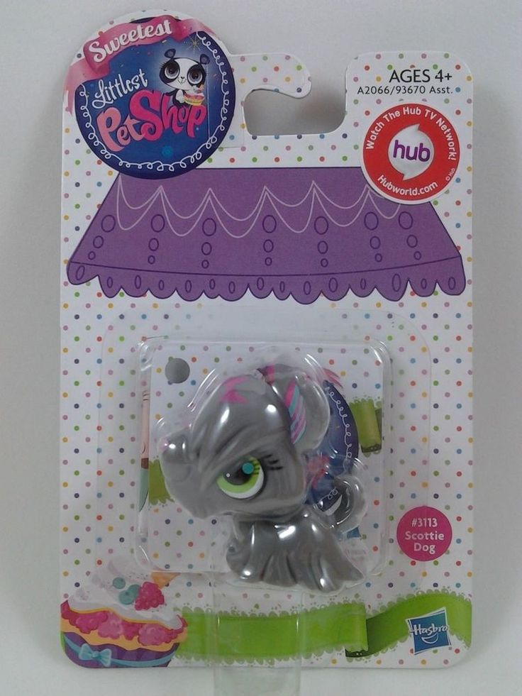 Littlest Pet Shop Scottie Dog # 3113 : New Package : Sweetest Pet : Hub TV : LPS #Hasbro