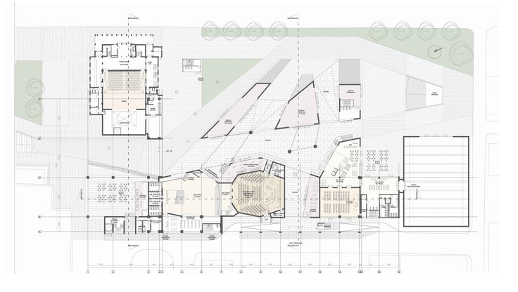 Sibiu Civic Center intervention/ Theatre extension http://yellowoffice.ro/projects/radu-stanca-theatre