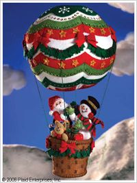 Bucilla ® Seasonal - Felt - Home Decor - Up, Up and Away. #bucilla #christmas #plaidcrafts