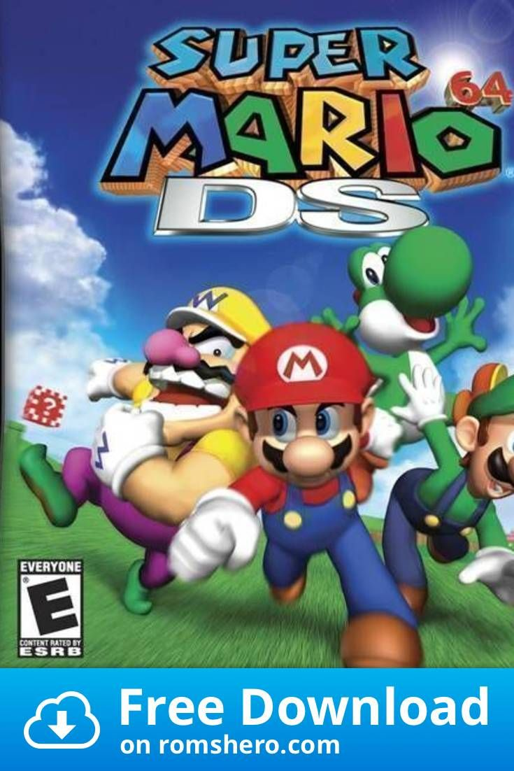 Download Super Mario 64 Ds V01 Nintendo Ds Nds Rom Nintendo Ds Mario Super Mario