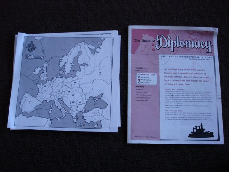 Diplomacy Board Game Avalon Hill 1999 #factorytoy