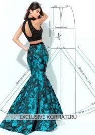 Resultado de imagen para falda corte sirena de tafetan