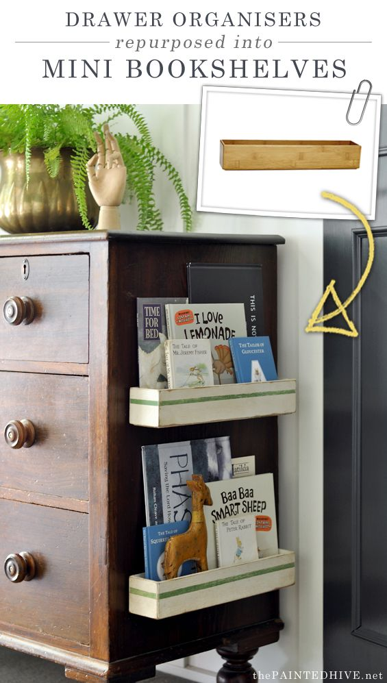 DIY Bookshelves for the Side of Furniture or Walls