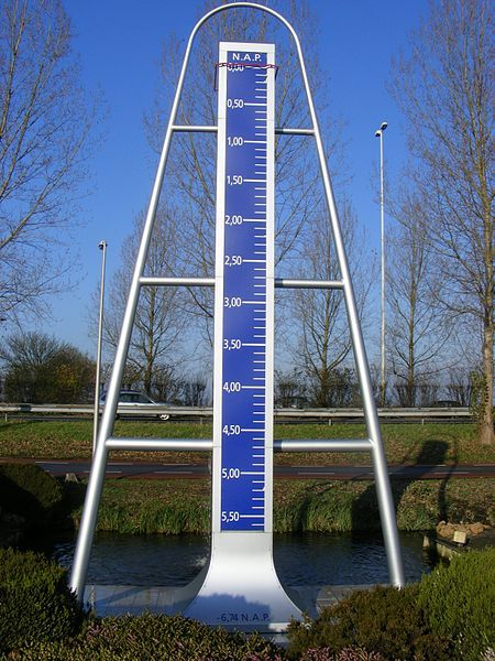 The lowest point in the Netherlands is in a pasture in the Zuidplaspolder northeast of Nieuwerkerk aan den IJssel, situated at a height of 6.76 meters below sea level . At the edge of the meadow along the A20 motorway, stands this monument.