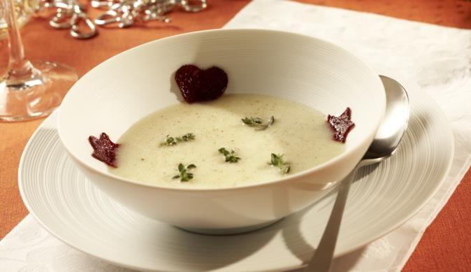 Weiße Rüben-Vanille-Suppe mit Rote-Bete-Chips - ein feines MAGGI Rezept aus der Kategorie Suppen & Eintöpfe. MAGGI Kochtipps für ein gutes Gelingen.