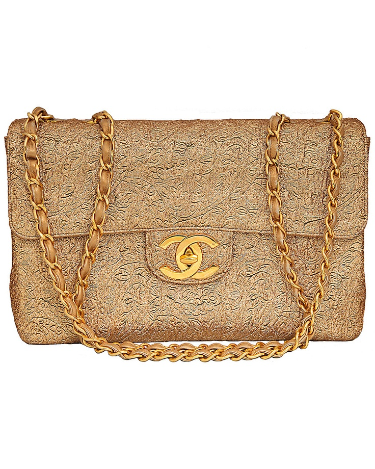 Chanel Gold Brocade Jumbo Bag; NEED THIS IN MY LIFE NOW
