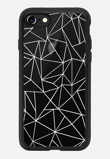 Abstraction Outline White Transparent iPhone 7 Case by Project M | Casetify