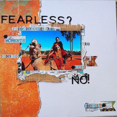 Uluru Camel Farm - my not so fearless 15 minute ride. Using Beck Beattie Believe kit.