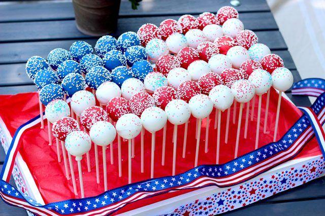 How to Make a Cake Pop Patriotic Flag Centerpiece | eHow