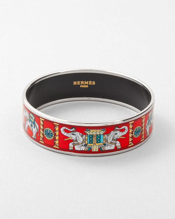 HermésHermes Bracelets, Elephants Bracelets, Hermes Bangles, Rolls Tide, White Elephants, Hermes Elephants, Elephants Rings, Enamels, Birthday Gifts