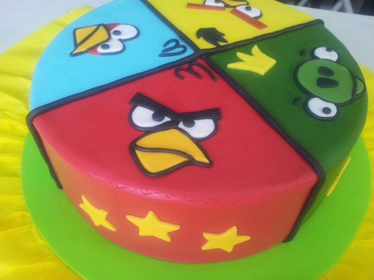 25 best ideas about angry birds cake on pinterest angry for Angry birds cake decoration kit