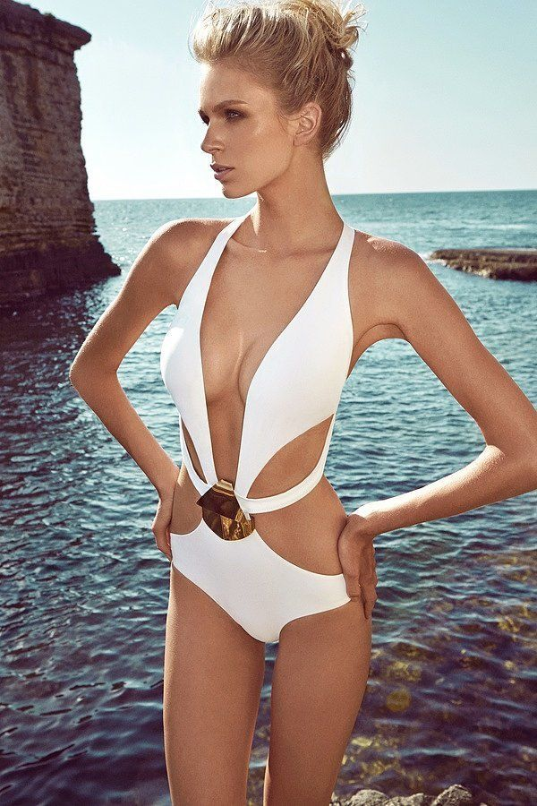 White sexy swimsuit - one-piece, Linda by Movea 2015 for $290. Buy it here: http://justbestylish.com/10-hottest-swimsuits-to-heat-up-your-honeymoon/
