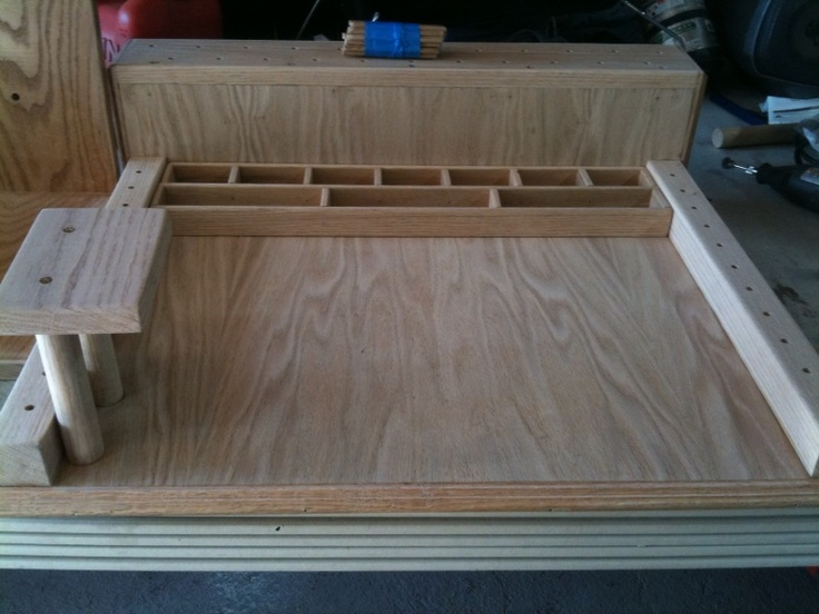 Home Made Fly Tying Station Make With Oak Plywood