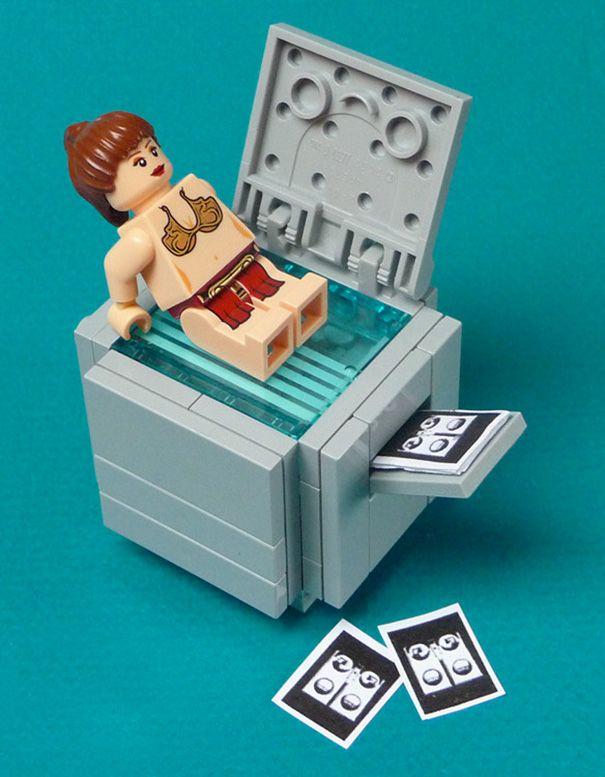 25 obrazków pokazujących klocki Lego w krzywym zwierciadle - Joe Monster