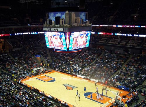 Time Warner Cable Arena, home of the Charlotte Bobcats.