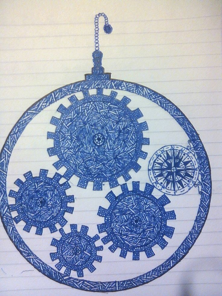 Drawn by me. Just wonderful what you can do with a ruler.