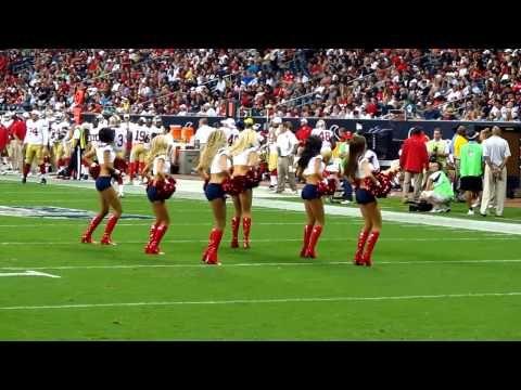 ▶ Houston Texans Cheerleaders Routine - Pound the alarm