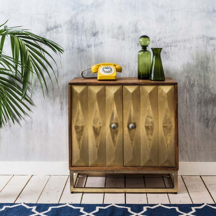 This Umberto Brass Media Cabinet Is The Solution To Keep Your Components Within Reach While Preserving Warm Atmosphere Of Living Room