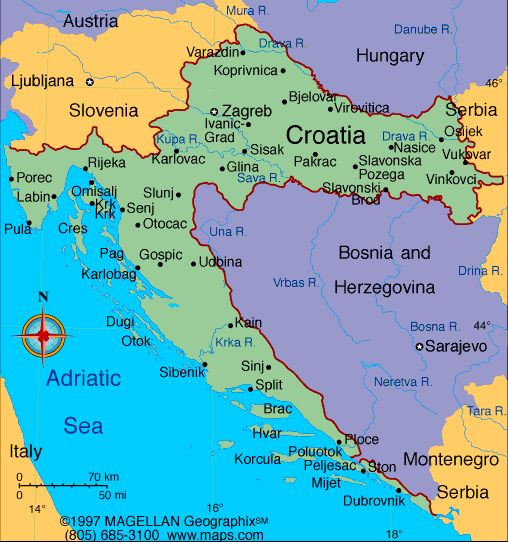 40 best maps of central and eastern europe images on pinterest map of croatia gumiabroncs Choice Image