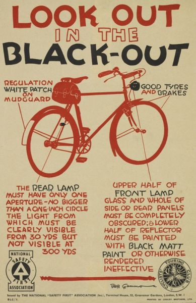 '<em>Look out in the blackout</em>', 1939. © The Royal Society for the Prevention of Accidents.